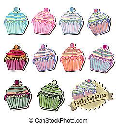 Vector cupcake collection