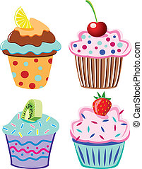 cupcakes with fruits