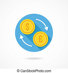 Vector Currency Exchange Icon