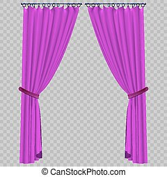 Vector curtain on a transparent background