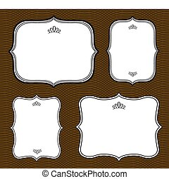 Vector Curved Frame Set and Pattern