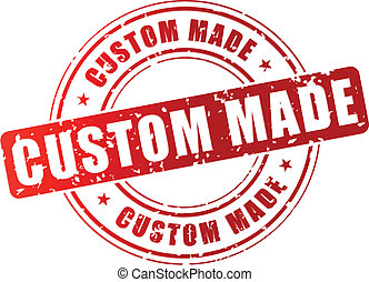 Vector custom made stamp - Vector illustration of red custom...
