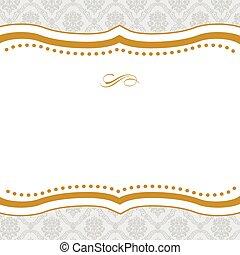 Vector Cut Gold Frame - Vector ornate frame. Easy to edit....