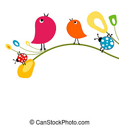 cute birds - vector cute birds
