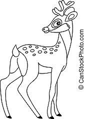 Vector Cute Cartoon Deer