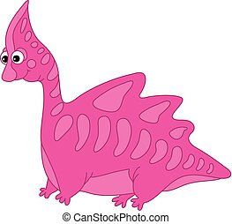 Vector Cute Cartoon Dinosaur