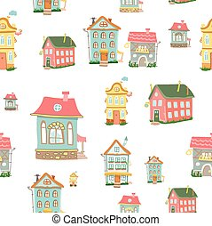 vector Cute cartoon houses