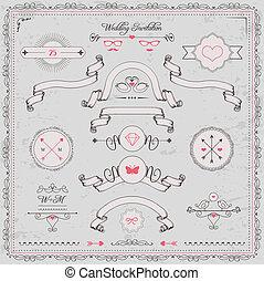 design elements, wedding invitation