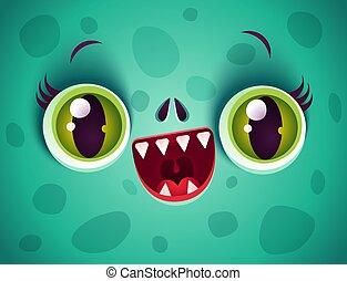 Kawaii face of zombie