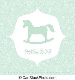 Vector cute greeting card It's a boy