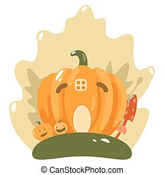 Vector Cute Happy Halloween design template art