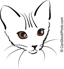cute kitty - vector cute kitty. artwork illustration