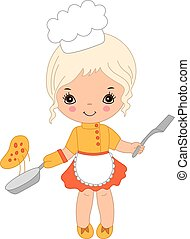 Vector Cute Little Chef