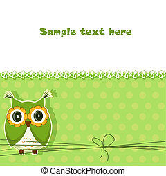 Vector cute owl card