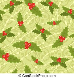 Vector cute seamless Christmas pattern