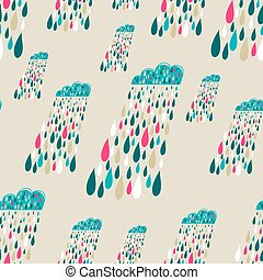 Vector cute seamless pattern with c