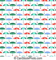 pattern with umbrellas in flat style