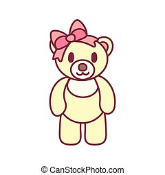 vector cute teddy bear