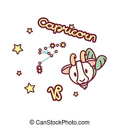 vector cute Zodiac sign