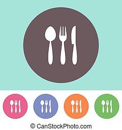 Vector cutlery icon