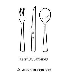 Vector cutlery set.