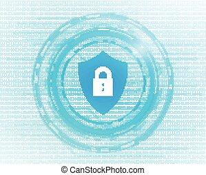 Vector Cyber Security Concept