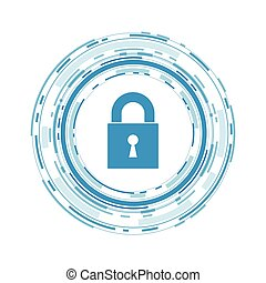 Vector Illustration of a Cyber Security Concept. Cyber Data Security Design.