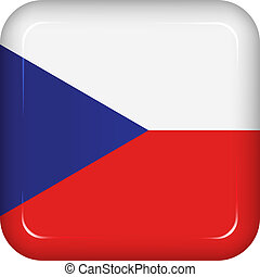 Vector czech republic flag