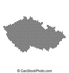 Vector czech republic map illustration