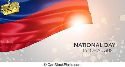 vector, día, bandera, nacional, tarjeta de felicitación, ...