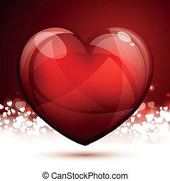 vector, día de valentines, tarjeta