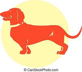 Vector Dachshund dog