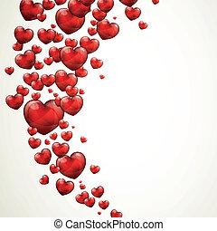vector, dag, kaart, valentines