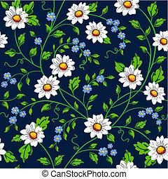 Vector daisy seamless background