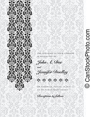 Vector Damask Column Background