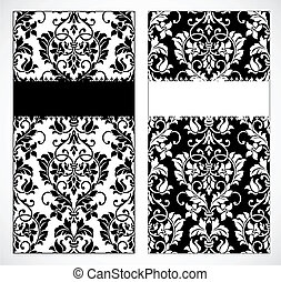 Vector Damask Frame Set - Vector decorative frame. Easy to...