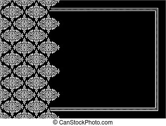 Vector Damask Ornament Frame