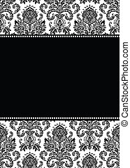 Vector Damask Pattern and Frame - Vector damask pattern and ...