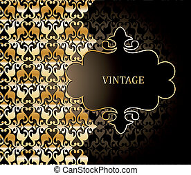 Vector damask pattern and illustration frame