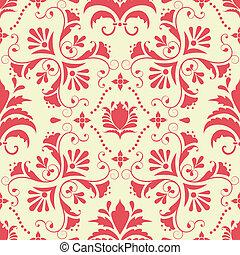 Vector damask pattern background