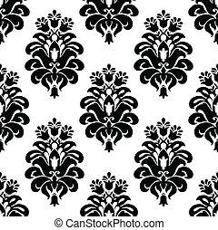 Vector Damask Pattern - Vector floral pattern. Seamless tile...