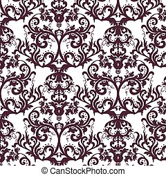 Vector damask pattern ornament