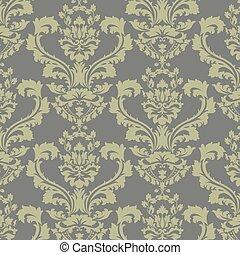 Vector damask pattern ornament