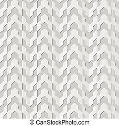 Vector damask seamless 3D paper art Arrow Geometry Line