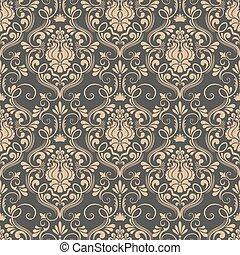 Vector damask seamless pattern background. Elegant luxury ...