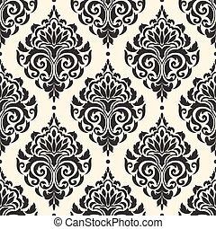 Vector damask seamless pattern background. Elegant luxury...