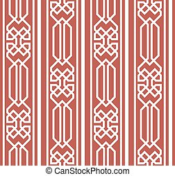 Vector damask seamless pattern background polygon check geometry cross frame line