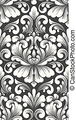 Vector damask seamless pattern element. Classical luxury old...