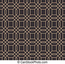 Vector damask seamless retro pattern background geometry polygon cross frame line
