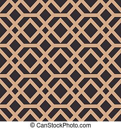 Vector damask seamless retro pattern background polygon geometry cross frame line